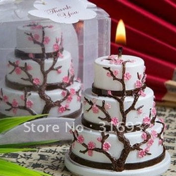 Wedding Party Favors: Cherry Blossom Cake Candles