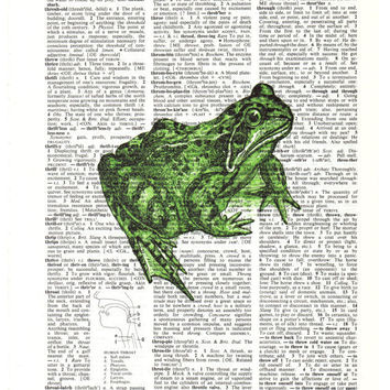 Green Frog Dictionary Print