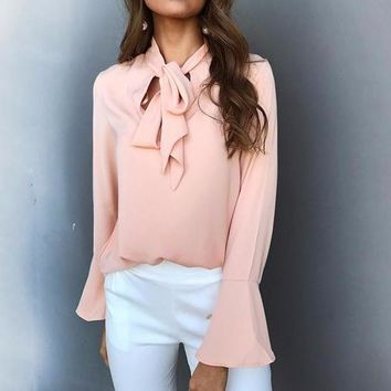Tie the Knot Long-Sleeve Blouse