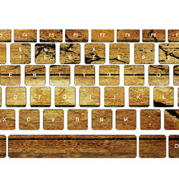 Classic Wood Grain Keyboard Stickers / Decals For MacBook (Air 13 Inch Retina)