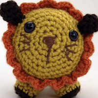 Lion Amigurumi Stuffed Plush by HedgiesHideaway on Etsy
