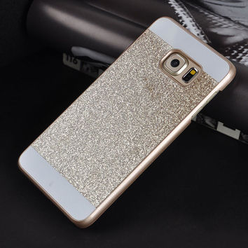 Fashion Bling Glitter PC Hard Case Back Cover For Various Samsung Galaxy Phone various phone case for Samsung S3 S4 S5 S6 edge