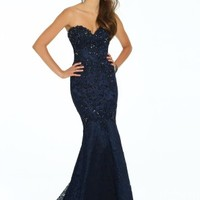 Beaded Lace Trumpet Dress with Shawl from Camille La Vie and Group USA