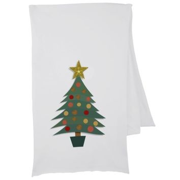Christmas tree and snowflakes design scarf