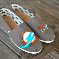 Miami Dolphins TOMS shoes
