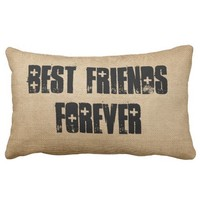 Burlap Best Friends Forever
