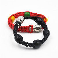 1pc Natural Hemp Rope Bracelet Pipe Disguised Metal And Rope With Bead Smoking Pipe