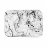 """Chelsea Victoria """"Marble No 2 """" Black Modern Place Mat"""