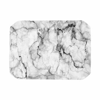 "Chelsea Victoria ""Marble No 2 "" Black Modern Place Mat"