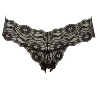 Black Banded Lace Thong Panties by Charlotte Russe