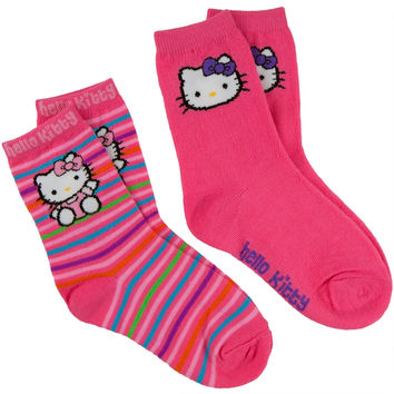 Hello Kitty - Sitting & Face Kids Socks 2 Pack