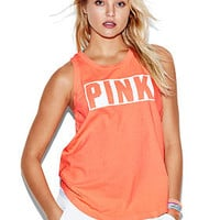 Rib Neck Muscle Tank - PINK - Victoria's Secret