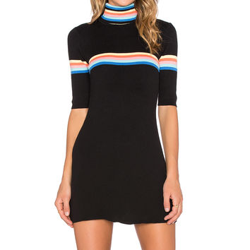 UNIF Relly Dress in Black & Multi