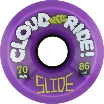 Cloud Ride! Slide 70mm 86a Purple Longboard Wheels