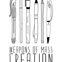 weapons of mass creation Canvas Print by Bianca Green