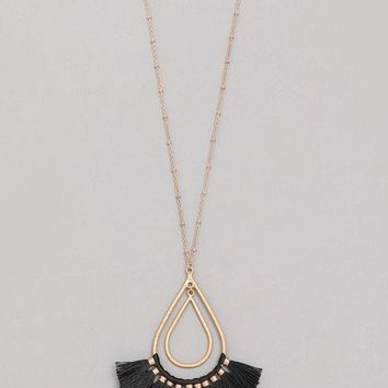 Noticed By All Necklace - Black