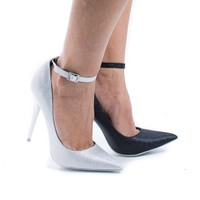 Audrey By Shoe Republic, Classic Stiletto High Heel Ankle Strap Pointy Toe Pumps
