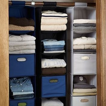 Hanging Closet Sweater Organizers, Dark