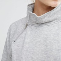 Monki Zip Detail Sweater at asos.com