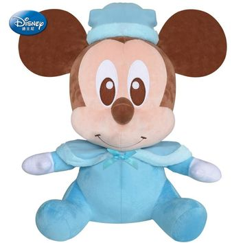 Original Disney Mickey Mouse Plush Dolls 20cm Disney Toys Minnie Mouse Stuffed Plush Doll Pooh Bear Edward Pooh Baby Kids Gift