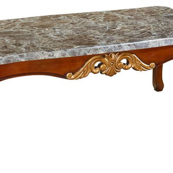 Camelia Coffee Table Genuine Marble Top