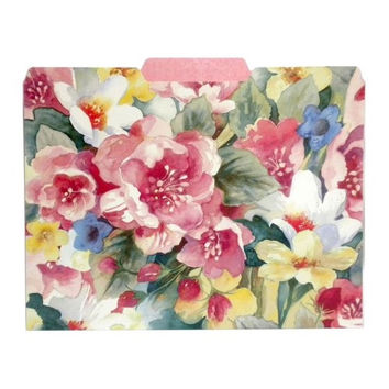 Punch Studio In Bloom Decorative File Folders Set of 10