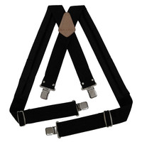 95013 - 2 Inch Wide Padded Work Suspenders in Black