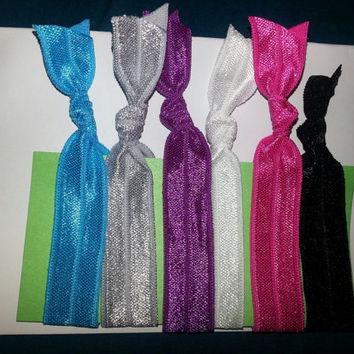 Elastic Hair Bands - No Crease - Small Medium and Large FREE button with 5 bought