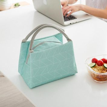SaicleHome Lunch Tote Bag Oxford Waterproof Cooler Insulated Handbag Picnic Storage Containers