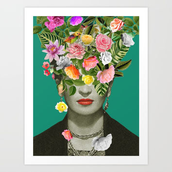 Frida Floral Art Print by desireefeldmann