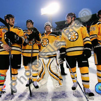 The Boston Bruins Post-Game Lineup 2010 NHL Winter Classic Photo at AllPosters.com