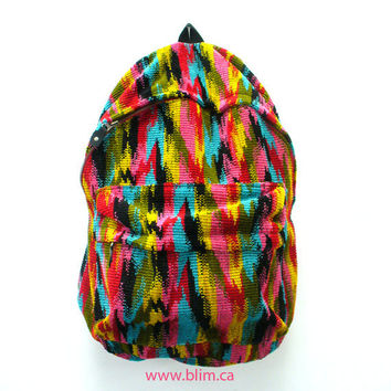 Rainbow Corduroy Ikat Backpack by Blim by Blim on Etsy