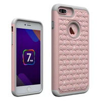 Luxury Mobile Phone Cover Cases For iPhone 7 / 7Plus Case With Bling Crystal Diamond High Impact Heavy Duty Hard Rugged Covers