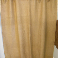 "Burlap Shower Curtain and Valance Set / 72 "" W x 72"" H."