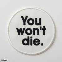 "Evangelion ""You Won't Die"" Iron-on Patch"
