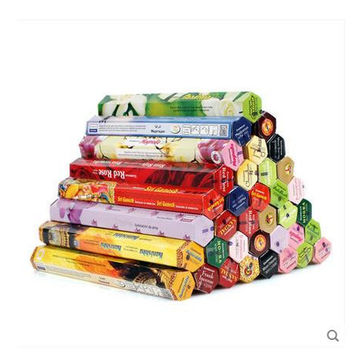 (6 pieces a lot)Handmade aromatherapy incense spices sandalwood stick incense(A Piece of about 18 sticks.)