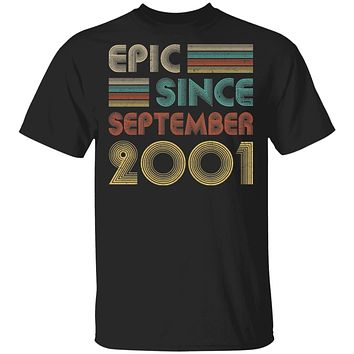 Epic Since September 2001 Vintage 19th Birthday Gifts