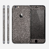 The Black Glitter Ultra Metallic Skin for the Apple iPhone 6 or 6 Plus