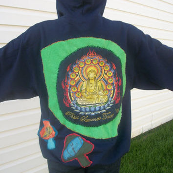 Vintage Phish Lotus Summer Tour 03 Mushroom Patchwork Hoodie