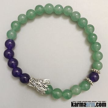 ATTRACT SUCCESS: Aventurine | Amethyst | Yoga Chakra Bracelet