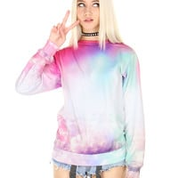 TRIPPY CLOUDS SWEATER