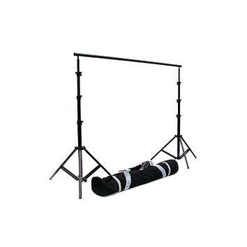 EX121 12'W X 9.6'H Heavy Duty Photography Background Stand with Adjustable Width Crossbar