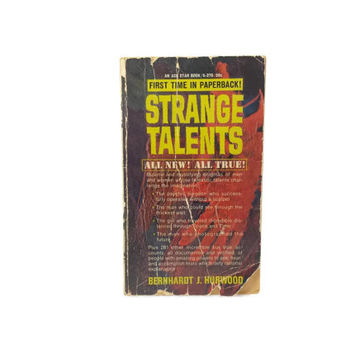 Strange Talents, Vintage Paperback, True Stories, Unusual Talents, Occult, Supernatural, Paranormal, Psychics, Weird Books, Psychical