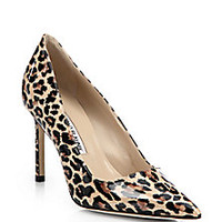 Manolo Blahnik - BB Leopard Print Patent Leather Point-Toe Pumps - Saks Fifth Avenue Mobile