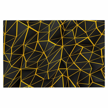 "Danny Ivan ""Yellow Poly"" Yellow Black Decorative Door Mat"