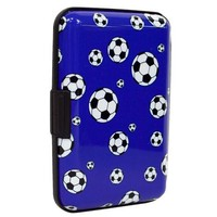 Card Guard Aluminum Compact Card Holder - Soccer Ball