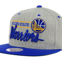 Golden State Warriors NBA City Bar Script Snapback Cap
