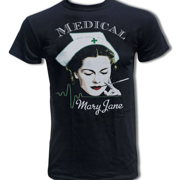 Medical Mary Jane T Shirt - Marijuana T Shirt - Graphic Tees for Men & Women