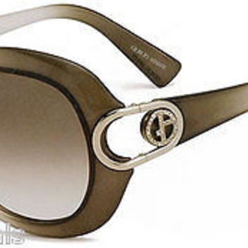 NEW AUTHENTIC GIORGIO ARMANI GA 653/S COL 94CS8 GREY PLASTIC SUNGLASSES OPTYL