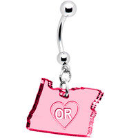 Custom Color State of Oregon Belly Ring | Body Candy Body Jewelry